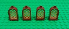 Lego 1x2x2 Brown Gold Grill Arches Windows Arch Brick Castles - 4 Pieces