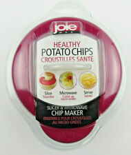 Joie Healthy Microwave Potato Chip Maker / Slicer Cooker in Red Free Shipping!