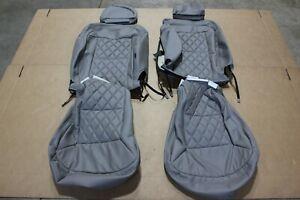13-22 Ram ProMaster 1500/3500 Van Front Seat Cover Set Med Flint Diamond Leather