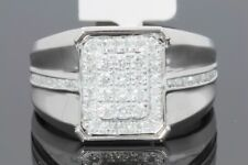 10K SOLID WHITE GOLD .74 CARAT REAL DIAMOND ENGAGEMENT RING WEDDING PINKY BAND