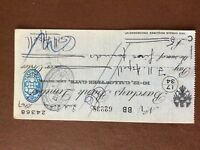 b1u ephemera cashed barclays bank cheque 1947 july 62238 24368