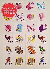 Kids Tattoos 72 Football & Fairy Temporary Tattoos Loot Party Bag Filler Kids