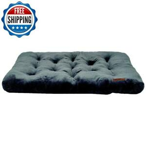 "XL Pet Dog Mat Washable Soft Extra Large Plush Tufted 38"" X 48"" Portable Gray"