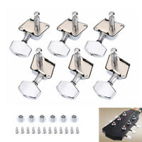 6Pcs Acoustic Guitar String Semiclosed Tuning Pegs Tuners Machine Heads Sets