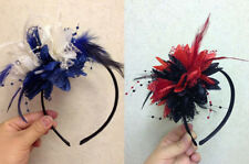 Bespoke  Fascinator Feather Alice Headband Wedding and Royal Ascot Races Ladies