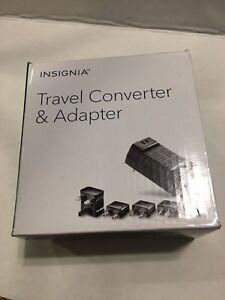 Insignia- Travel Adapter/Converter 5 International Plugs NEW