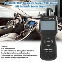 2018 D900 OBD2 EOBD Car Fault Code Reader Scanner Diagnostic Tool Original Box J