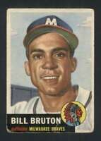 1953 Topps #214 Bill Bruton GVG RC Rookie Braves UER 88016