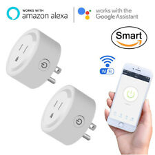 2 Pack Remote Control Smart Socket Outlet Adapter Plug Wifi w/ Alexa Google Home