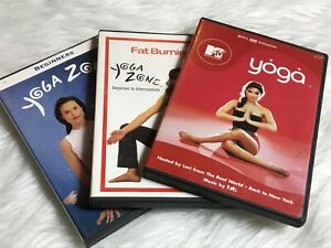 Yoga Dvds Lot of 3 Beginners Yoga Zone and MTV Weight Loss Easy Starter Yoga