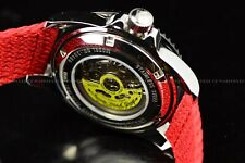 Invicta Men's 44mm Pro Diver Automatic Super Red Polyster Strap SS Watch