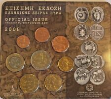 2006 Greece 8 Coins Official Euro Set Special Edition
