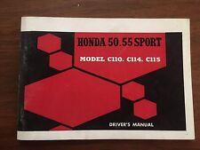 Original Honda C110 Owners Manual NOS