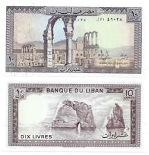 LIBANON LEBANON 10 LIVRES 1986 UNC P 63