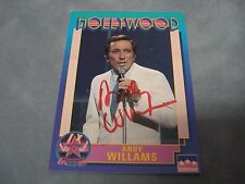 ANDY WILLIAMS SIGNED AUTOGRAPH HOLLYWOOD WALK OF FAME STARLINE TRADING CARD