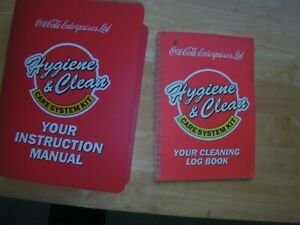 Coca-Cola Hygiene & Clean Instruction Manual and Log Book, vgc