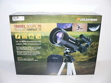 Celestron Travel Scope 70 Telescope Model 21035, 40x, 400mm Focal~New in Box