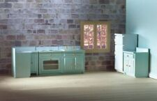 1/12 Scale Dolls House Emporium Fitted Kitchen Set Blue 5pc 5384