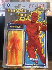 2021 Kenner Marvel Legends Retro Human Torch Action Figure Vintage -