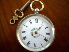 Donna Orologio da taschino in argento 800 Custodia Orologio da taschino-funzionante con chiave