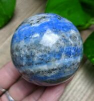 54mm LAPIS LAZULI w PYRITE Sphere Crystal Reiki Charged 9oz