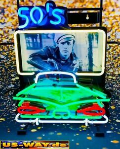 """N-0119 Neon """"50´s Drive In"""" Schild Leuchtreklame Diner Neonreklame Vintage Retro"""