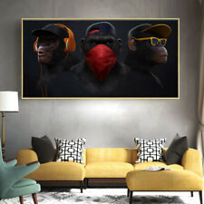 Art Picture Wall Home Decor Animals Wall Painting Swag Monkey HD Print on Canvas