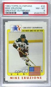 1983 History's Greatest Olympians Mike Eruzione #36 PSA 8