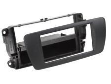 für Seat Ibiza 6J 6JN Auto Radio Blende Einbau Rahmen 1-DIN nitschwarz AN1