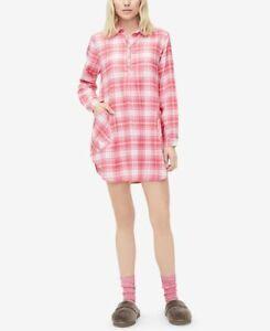 UGG Australia Womens Large Gabri Printed Sleepshirt & Fleece Socks Set Flannel