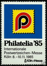 PHILATELIA ´85, INTERNATIONAL PHILATELIC EXPOSITION CINDERELLA, KÖLN 1985
