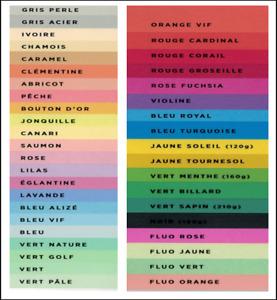 Kopierpapier Papier Druckpapier bunt farbig 80g Din A4 40Farben, Clairefontaine