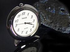 Tischuhr Miniaturuhr Miniuhr Miniatur Uhr Bürouhr goldfarben silberfarben, neu