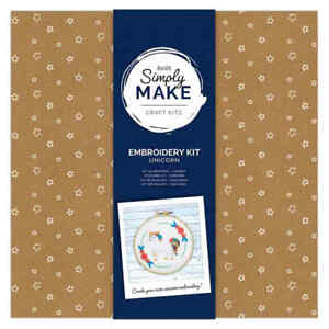 DOCRAFTS SIMPLY MAKE UNICORN EMBROIDERY KIT