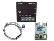 12v Sestos D1S-VR-24 Digital Pid Temperature Controller thermostat sensor 25 ssr