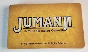 1995 Jumanji Board Game Replacement Pieces Danger Cards