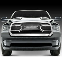Big Horn Chrome Packaged Grille+Black Shell for 13-17 Dodge RAM 1500