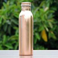 100% Copper Solid Water Drink Bottle Yoga  950ml Melbourne Based Seller AU
