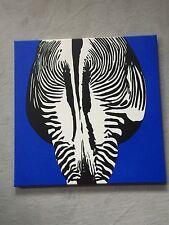 Acryl Gemälde 'ZEBRA' | HANDGEMALT | Leinwand Bilder 50x50cm