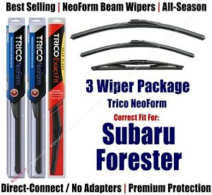 3-Pack Wipers Front & Rear - NeoForm - fit 2014+ Subaru Forester 16260/170/14B