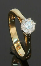 18 Carat Yellow Gold Diamond Solitaire Ring 0.51ct Size I (70.20.001)
