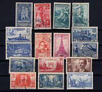 K139674/ FRANCE – YEARS 1938 - 1939 USED SEMI MODERN LOT – CV 135 $
