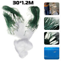 98FT Fishing Net With Float Fish Trap Monofilament Small Mesh Gill Clear   +