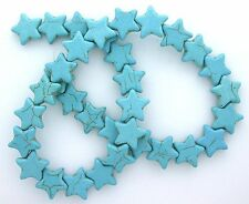 15mm Star Magnesite Blue Turquoise Bead Gemtone Gem Stone 15 Inch Strand MB183