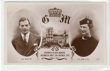 DUKE & DUCHESS OF KENT, ROYAL WEDDING 1934: Royalty postcard (C18420)