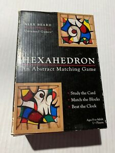 Hexahedron Abstract Matching Game - Alex Beard Untamed Games - Cards & Blocks