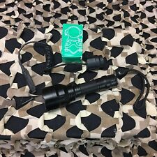 New Warrior Led Push-Button Barrel-Mounted Flashlight - Black