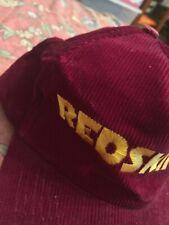 Vintage Washington Redskins NFL football Corduroy Snapback Hat Cap