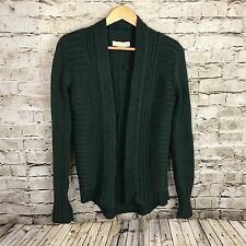Women's Urban Outfitters Staring At Stars Green Cable Knit Sweater Cardigan S
