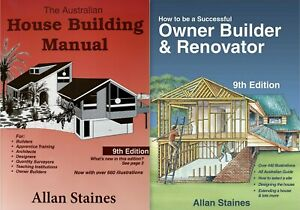 Australian House Building Manual + Successful Owner Builder and Renovator Allan